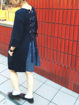 HEAVEN27 大阪|近藤琴巳さんの「BACK RIBBON DRESS(MILKFED.|ミルクフェド)」を使ったコーディネート