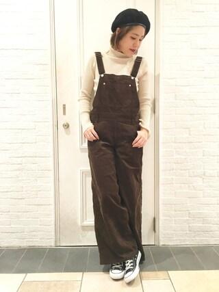 HEAVEN27 大阪|近藤琴巳さんの「CORDUROY WIDE LEG JUMPSUIT(MILKFED.|ミルクフェド)」を使ったコーディネート