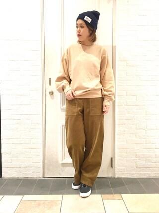 HEAVEN27 大阪|近藤琴巳さんの「KNIT CAP(MILKFED.|ミルクフェド)」を使ったコーディネート