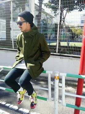 AVIREX 渋谷|NISIDAさんの「avirex/アヴィレックス/ DiAPLEX TWILL HOODED JACKET/ ディアプレックス ツイル フーデッドジャケット(AVIREX)」を使ったコーディネート