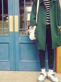 mimiさんの「STUDIOUS ドルマンショップコート MADE IN JAPAN(STUDIOUS ステュディオス)」を使ったコーディネート