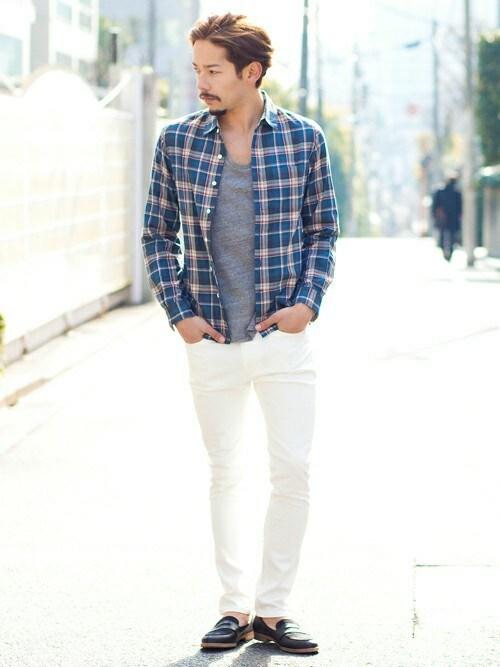チェックシャツ着こなしメンズのシャツ・ブラウス「BEAUTY&YOUTH UNITED ARROWS 【WEB限定】by∴ ヴィンテージライク Wチェックシャツ (made in JAPAN)」を使ったコーディネート