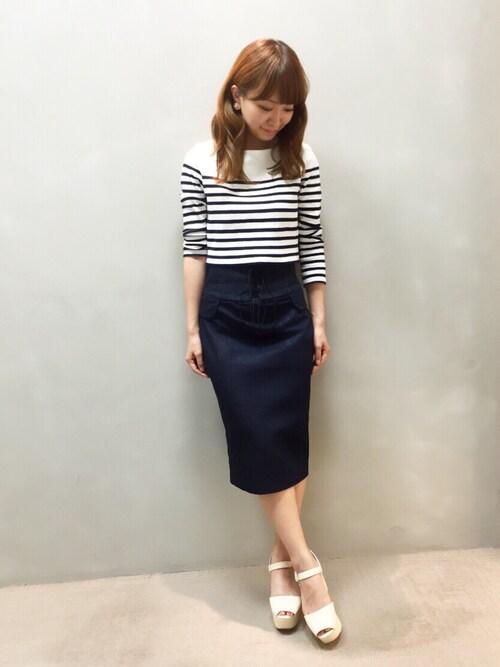 kumemiさんの「レースアップタイトスカート(RANDA)」を使ったコーディネート