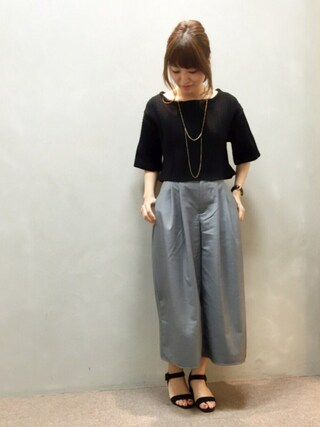 RANDA 本社|kumemiさんの「ケーブル編みニットトップス(RANDA|ランダ)」を使ったコーディネート