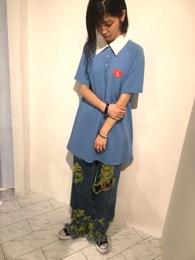 LHP WOMEN Laforet原宿店|シミズヒカルさんの「Little sunny bite×Cecy Young/リトルサニーバイト×セシーヤング/Polo Dress(Little sunny bite|リトルサニーバイト)」を使ったコーディネート