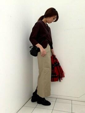 nano・universe 東京|nano・universe lady's STAFFさんのその他シューズ「STIL MODA/レザータッセルローファー/L(STILMODA|スティルモーダ)」を使ったコーディネート
