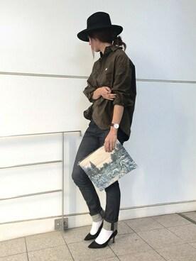 nano・universe 東京|nano・universe lady's STAFFさんのシャツ/ブラウス「Lee/ NU別注バックボリュームワークシャツ(Lee|リー)」を使ったコーディネート