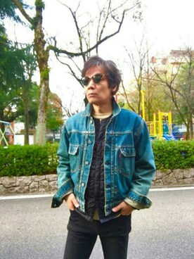 「Ray-Ban Clubmaster Square-Frame Acetate Sunglasses(Ray-Ban)」 using this satoshi310456🎩 looks