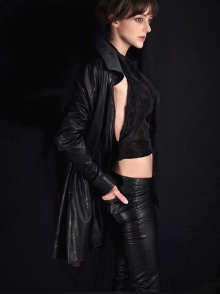 「tailored leather pants(temporary friends)」 using this Danae EuDaly looks