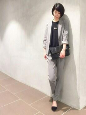 STUDIOUS 名古屋PARCO店 Tsukushi Adachiさんの(STUDIOUS ステュディオス)を使ったコーディネート