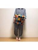くるみさんの「Kompotti / CUSHION COVER 45cm×45cm(marimekko|マリメッコ)」を使ったコーディネート
