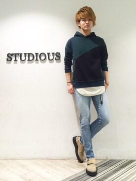 STUDIOUS MENS 3rd 原宿|YUYA KUR☺︎DAさんの(KIDS LOVE GAITE|キッズラブゲイト)を使ったコーディネート