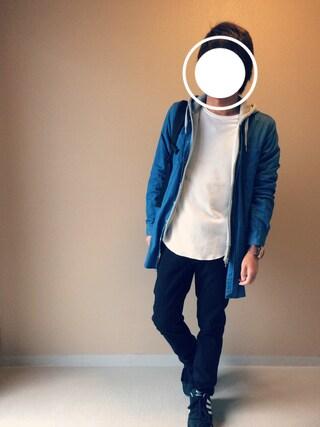 「MEN ストレッチスキニーフィットカラージーンズ(ユニクロ)」 using this Nao looks