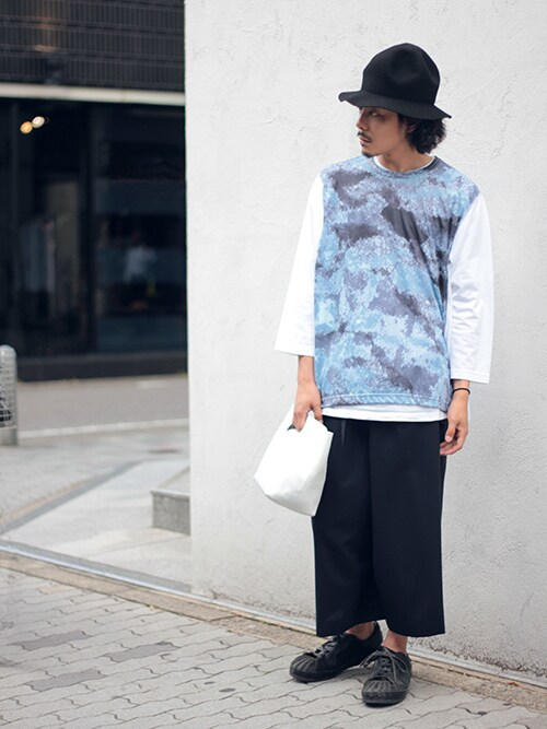 Tremoloさんの「GANRYU デジタルカモフラージュロングTシャツ(GANRYU)」を使ったコーディネート