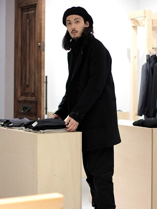 Tremolo|Tremoloさんの「Name. Melton Double Coat(Name.|ネーム)」を使ったコーディネート