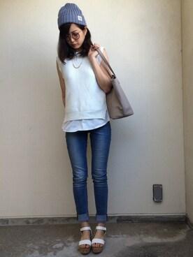 yukinaさんの(GU|ジーユー)を使ったコーディネート