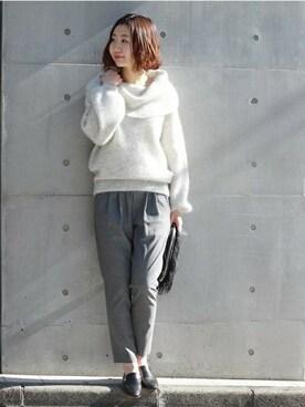 journal standard luxe 渋谷店|AYAKAさんのパンツ「WOOL トロ Wゴムイージーパンツ#(JOURNAL STANDARD|ジャーナルスタンダード)」を使ったコーディネート