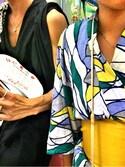 ティラーさんの「【チャイハネ】ステンドグラス風ロータスセパレート浴衣(チャイハネ チャイハネ)」を使ったコーディネート