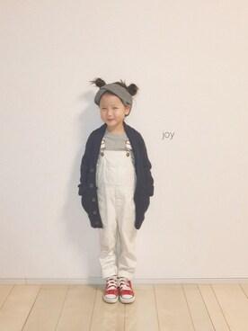 バニージョイ☆さんのスニーカー「CONVERSE:CHILD ALL STAR RZ HI(SHIPS KIDS|シップスキッズ)」を使ったコーディネート