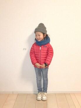 バニージョイ☆さんのダウンジャケット/コート「Patagonia / 15 Baby Reversible Down Sweater Hoody (6m〜5y)(patagonia|パタゴニア)」を使ったコーディネート