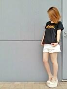 AVIREX富士見|kanamiさんの「avirex/アヴィレックス/ SPRAY LOGO S/S T-SHIRT/スプレーロゴ 半袖 Tシャツ(AVIREX|アヴィレックス)」を使ったコーディネート