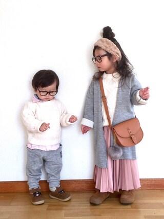 ai☆kaaさんの「プリーツスカート(petit main プティマイン)」を使ったコーディネート