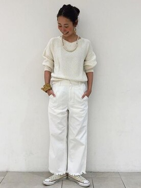 asuka itoさんの「<InRed3月号掲載>ビーミング by ビームス / フリンジデニムパンツ(B:MING LIFE STORE by BEAMS)」を使ったコーディネート