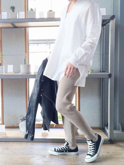 KAZUMIさんの「ノーカラーシャツ(GALERIE VIE)」を使ったコーディネート