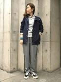 hirayamaさんの「DOORS ヴィンテージ裏毛プルパーカー(URBAN RESEARCH DOORS WOMENS アーバンリサーチ ドアーズ ウィメンズ)」を使ったコーディネート