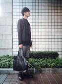 yuumaさんの「シングルレザーライダージャケット(Johnbull Private labo ジョンブル プライベート ラボ)」を使ったコーディネート