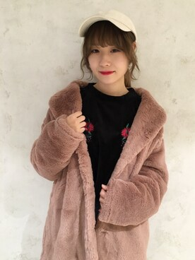 one after another NICE CLAUP|sayakayoshiさんの「ベロア刺しゅうプルオーバー(one after another NICE CLAUP)」を使ったコーディネート