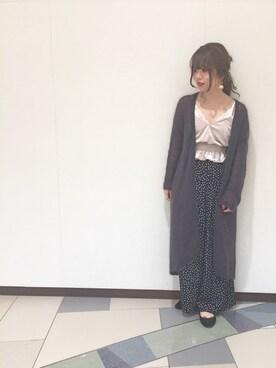 アナザーエディション 柏店|Yui Inoueさんの「天竺ロングカーディガン2/AEMFC W/NyテンジクLONGCGNⅡ(Another Edition)」を使ったコーディネート
