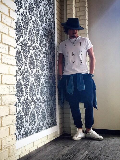 kazuさんのTシャツ/カットソー「SATURDAYS SURF NYC THIN STACK」を使ったコーディネート