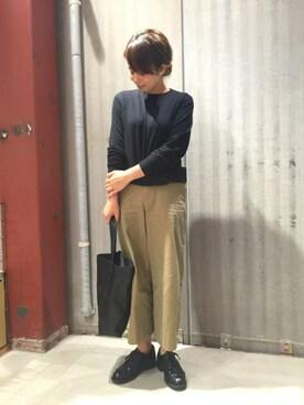 DESCENTE BLANC DAIKANYAMA|Tsugumiさんの(AURALEE|オーラリー)を使ったコーディネート