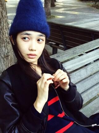 林田岬優さんの「Hat(MARNI|マルニ)」を使ったコーディネート