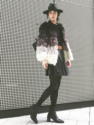 林田岬優さんの「Stella McCartney Falabella Quilted Backpack, Black(Stella McCartney|ステラマッカートニー)」を使ったコーディネート