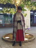 KAWASHIMA KIYOMIさんの「BY ミンクファーピアス ◆(BEAUTY&YOUTH UNITED ARROWS|ビューティアンドユースユナイテッドアローズ)」を使ったコーディネート