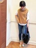 Loungedressスタッフさんの「【WEB限定】配色ポーチ付きバッグ(Loungedress|ラウンジドレス)」を使ったコーディネート