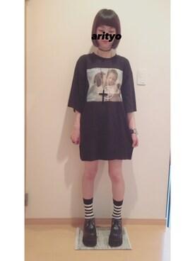 arityoさんの「SNIPER ANGEL BIG Tシャツ(MILKBOY)」を使ったコーディネート