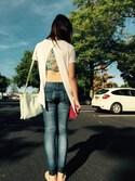 「Free People 'Wild Roses' Cross Dye Racerback Bralette(Free People)」 using this Chai♡ looks