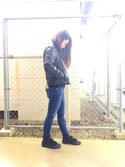 「FOREVER 21 Faux Leather Moto Jacket(Forever 21)」 using this G7 looks
