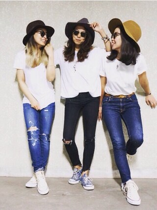 「Free People Mid Rise Skinny Destroyed Ankle Jean(Free People)」 using this Asaka Ueno looks