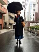 TOGARIさんの「Di Cesare Designs 雨傘(ESTNATION エストネーション)」を使ったコーディネート