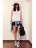 sana さんの「【PLAIN CLOTHING】3wayレザートートバッグ(PLAIN CLOTHING|プレーンクロージング)」を使ったコーディネート