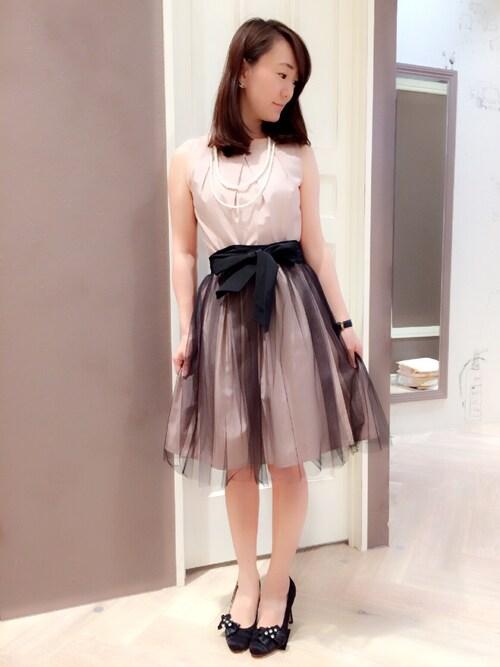 laboratory work三宮さんちかゆっしーさんのドレス「グログラン3wayワンピース【結婚