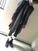 「LOEWE Fisherman low-slung boyfriend jeans(Loewe)」 using this 山田友紀 looks