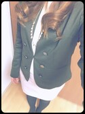「FOREVER 21 Button-Front Blazer(Forever 21)」 using this どきんちゃん looks