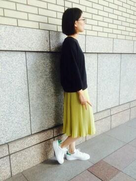 haco!|SHOUCHANさんの「ロジーズ 配色プリーツロングスカート(haco.)」を使ったコーディネート