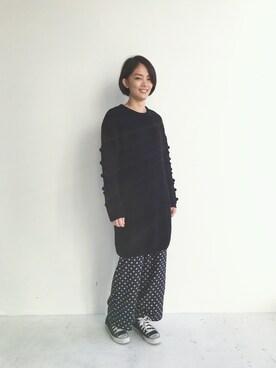 haco!|SHOUCHANさんの「NUSY パプコーン編みがかわいいおしゃれニットワンピース(haco.)」を使ったコーディネート