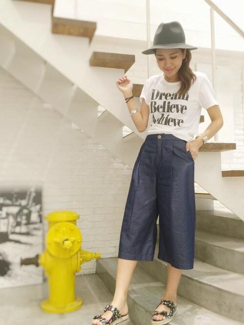 yuriさんの「Lagoon(ラグーン) DreamBelieveTシャツ(Lagoon)」を使ったコーディネート